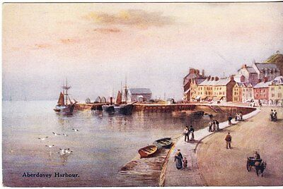 Aberdovey - Harbour - artist post card