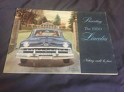1950 Lincoln and Lincoln Cosmopolitan Large Brochure Prospekt