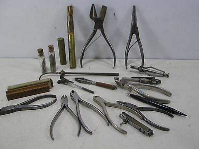 Large Lot of Antique Watch Makers Tools- L.Hugoniot, H.Bros.,S.Frese, K & D
