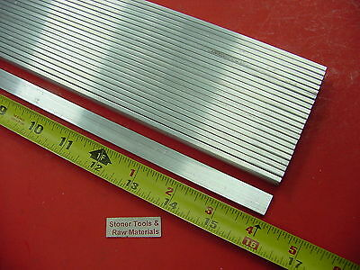 "24 Pieces 1/8"" X 1/2"" ALUMINUM 6061 FLAT BAR 16"" long T6511 .125"" New Mill Stock"