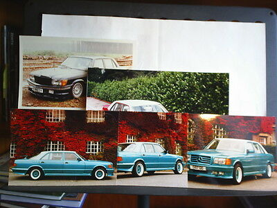 Collection Of 5 Colour Photographs Of Special Bodied S.e.l Mercedes 450Sel 500