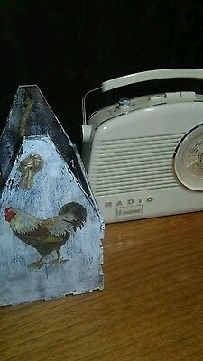 shabby chic crate chicken kitchen storage rustic vintage decoupage mothers day?