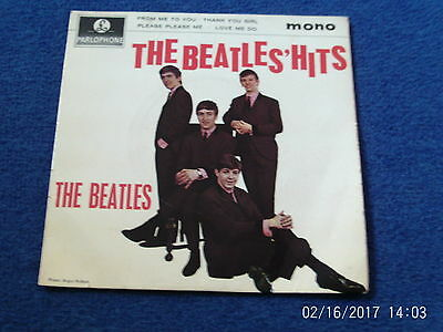 "THE BEATLES - THE BEATLES' HITS MONO 4 x TRACK 7"" EXTENDED PLAY - 1960's BEAT"