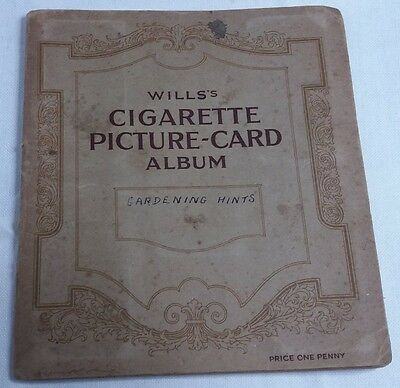 Vintage Wills's Cigarette Picture-Card Album Gardening Hints