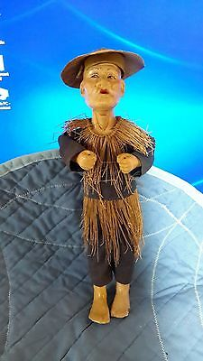 Antique Chinese Opera Doll Fisherman Statue Figure As Is beautiful doll
