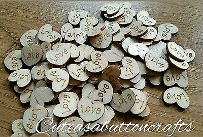 50 Rustic Wedding Wood Love Heart Table Decorations Shabby Chic Scatter Craft