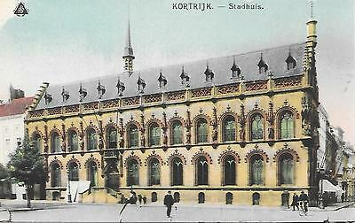Kortrijk - Town Hall - Unposted Postcard