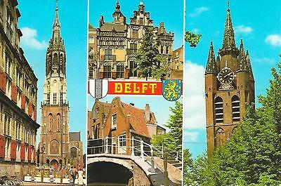 Delft - Views - Posted Postcard