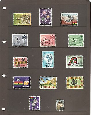 A Nice Collection  Of 14 Ghana  Fine Used   Stamps