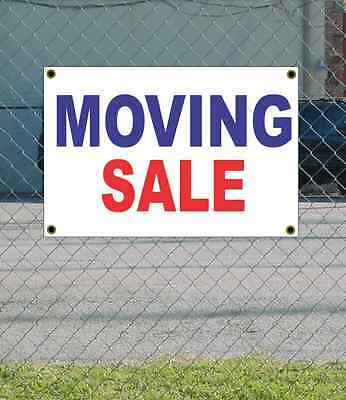 2x3 MOVING SALE Red White & Blue Banner Sign NEW Discount Size & Price
