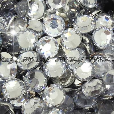 Crystal Clear 1000pcs Resin Rhinestones Beads Flat Back Nail Art Craft Gems