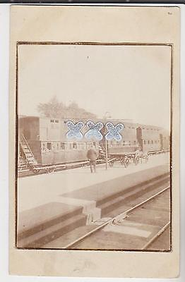 Vintage Postcard - Double Decker Railway Carriages At A Station ??