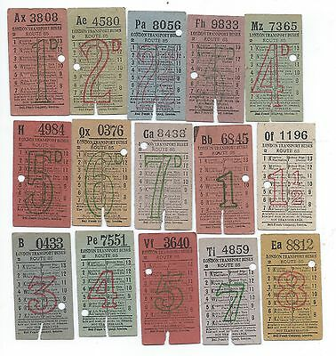Bus Tickets 15 London Transport Buses Route 85 as per scans