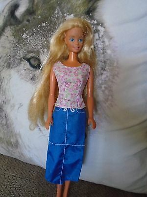 BARBIE CLOTHES SKIRT AND TOP WITH LABELS [doll not included]