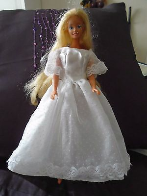 BARBIE CLOTHES white bride dress [doll not included]