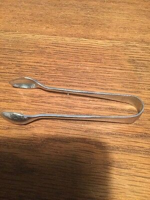 Sugar tongs on stainless chronium on nickel silver 95Mm Long, Thick Gauge