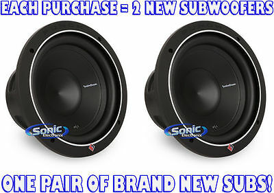 "(2) ROCKFORD FOSGATE P1S2-10 500W 10"" Single 2 Ohm PUNCH Stage 1 Subwoofers"