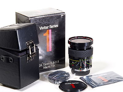 Vivitar Series 1 3.8-4.8/24-70 For Pentax K Fx Dx Nuevo Old Stock New Garantia
