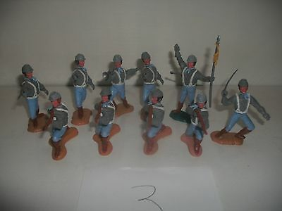 Timpo Swoppet ACW Confederate 10 foot figures, last series heads.