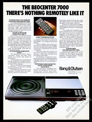 1981 Bang & Olufsen Beocenter 7000 stereo system photo vintage print ad