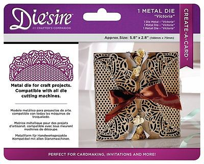 Die'sire Create a Card Lace Die + Emboss Metal Small Detailed Stencil - Victoria