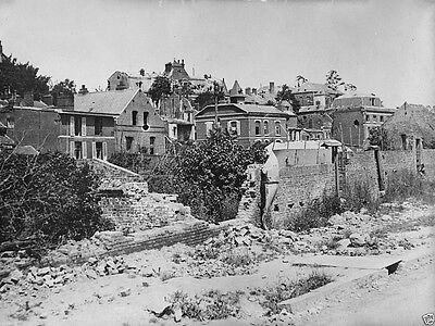 New 8x10 Photo- Damaged buildings in France after the Battle of the Somme 1916