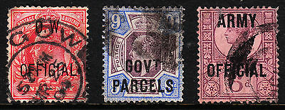 Great Britain — O.w., Govt Parcels, Army Officials — Used — Faults — Scv $397.50