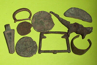 COLLECTION Ancient ROMAN MEDIEVAL ARTIFACTS coins jewelry old antique lot ring