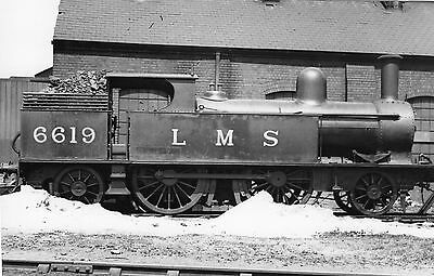 Photo LMS Class 1P 2-4-2T No 6619 at Carmarthen MPD on 28/5/39