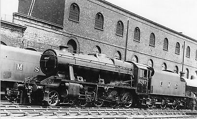 Photo LMS Class 8F No 8267 at Crewe Works ex works on 23/6/46