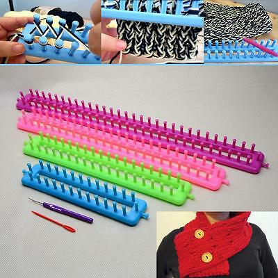 4 Size Plastic ABS Loom For Shawl Scarf Hat Socks Long Knit Knitter Knitting New