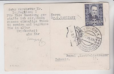 Stamps 1935 Austria Picture Postcard Rares Collection