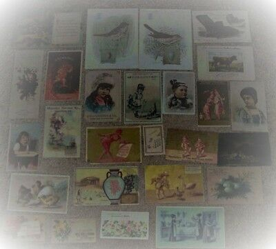 Vintage Lot Victorian Trade Cards (26) #aa