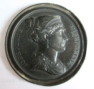 NAPOLEON BONAPARTE JOSEPHINE EMPRESS AND QUEEN MEDAL MEDALLION by ANDRIEU