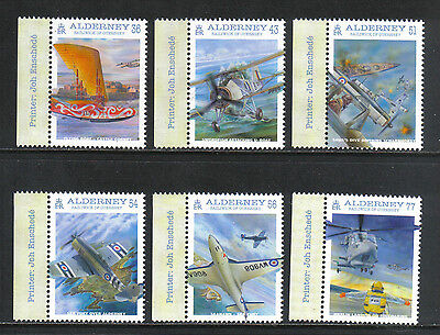 Alderney 2009 Naval Aviation 100th--Attractive Airplane Topical (350-55) MNH