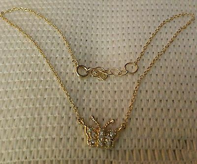 Sterling silver,gold tone BUTTERFLY Anklet