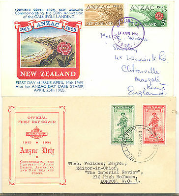 New Zealand two first day covers