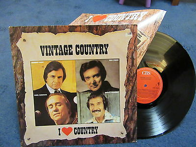 """Vintage Country - I Love Country"" Vinyl LP (Johnny Cash, Earl Scruggs etc)"