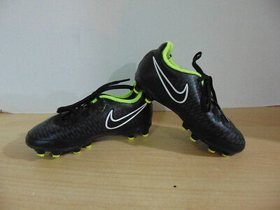 Soccer Shoes Cleats Childrens  Size 10 Toddler Nike Maginta Black Green