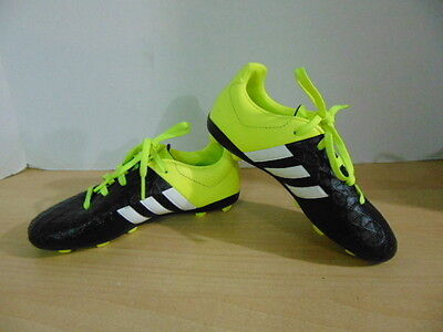 Soccer Shoes Cleats Childrens  Size 13 Adidas Yellow Black White