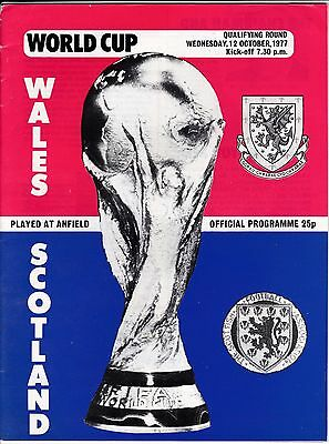 At Liverpool :  WALES  v  SCOTLAND  ( World Cup - Q )  1977.