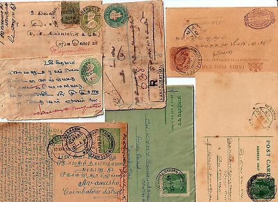 India 7 old covers/post card/ postal stationary