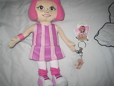 Lazy Town TALKING  Stephanie & KEYRING 14 ins tall in Pwo