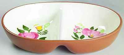 Stangl FRUIT & FLOWERS Oval Divided Vegetable Bowl 2201389