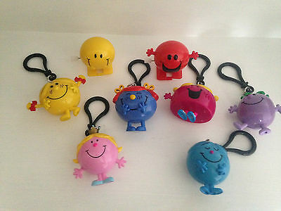 New! Fab Mr Men Keyring And Wind Up Toy Bundle Job Lot - See Pic