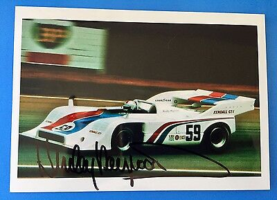 Porsche 917/10 Hurley Haywood CanAm Mosport 1973 photo HAND SIGNED by Hurley