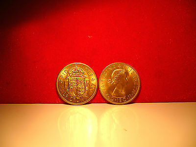 24ct gold finished half crown coin 1967 BUNC condition.New