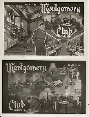 Montgomery Club, NAAFI, in Brussels on four fine mint real photo postcards