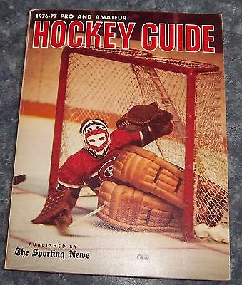 The Sporting News NHL Guide Pro & Amateur Hockey Guide 1976-77 Ken Dryden