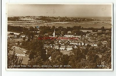 Isle of Wight Brading View from the Downs 1958 Real Photo Vintage Postcard 28.12